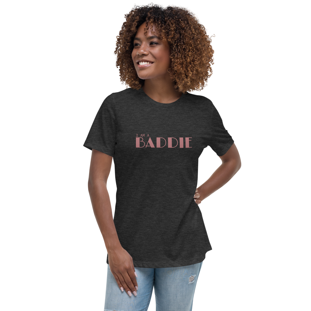 I Am Baddie Relaxed Fit Women's Cotton T-Shirt - Mystical Berries