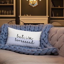 Load image into Gallery viewer, Butttt I'm Bored Lounge Pillow - Mystical Berries