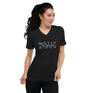 Be Your Own Motivation V-Neck T-Shirt - Mystical Berries