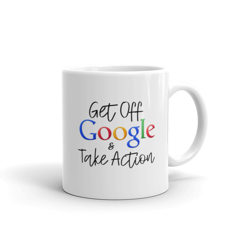 Get Off Google & Take Action 11oz Coffee Mug - Mystical Berries