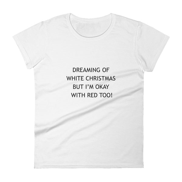 Dreaming Of White Christmas Short Sleeve Tee Shirt - Mystical Berries