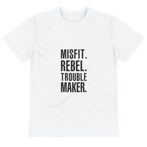 White Misfit Eco-Friendly Organic T-Shirt - Mystical Berries