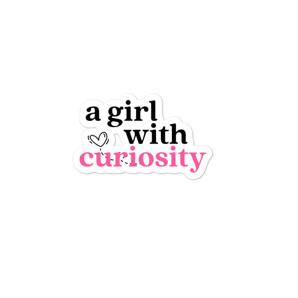 A Girl With Curiosity Stickers - Mystical Berries