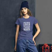 Load image into Gallery viewer, Change Maker Cotton Jersey Tee Shirt - Mystical Berries