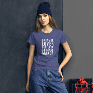 Change Maker Cotton Jersey Tee Shirt - Mystical Berries