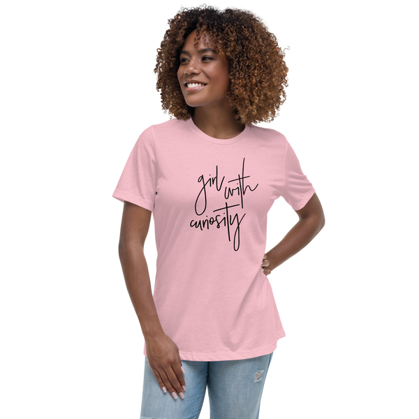 Girl With Curiosity Tee Shirt - Mystical Berries