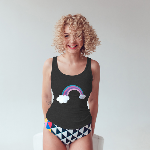 Rainbow Racerback Muscle Tank - Mystical Berries