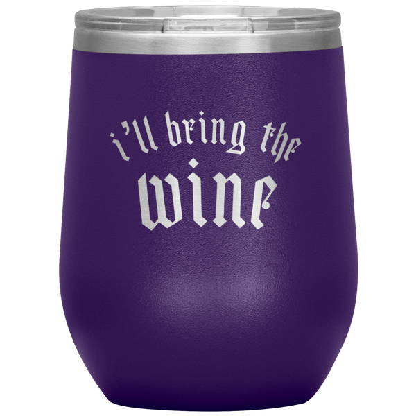 I'll Bring The Wine Stainless Steel Wine Tumbler With Lid - Mystical Berries