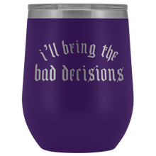 Load image into Gallery viewer, Bad Decisions Stemless Wine Tumbler - Mystical Berries