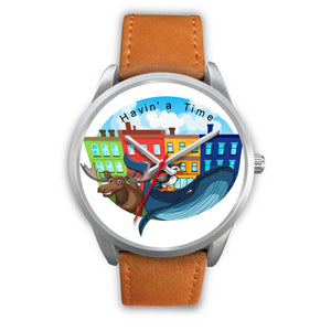 Havin' a time Newfoundland watch - 10 styles - leather, black metal, silver metal & rose gold