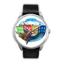 Load image into Gallery viewer, Havin' a time Newfoundland watch - 10 styles - leather, black metal, silver metal & rose gold
