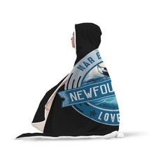 Load image into Gallery viewer, Nar Bit Nice Loves It Black Fluffy Hooded Blanket - Youth & Adult Sizes