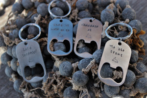 Stainless Steel Bottle Cap Opener Keychains