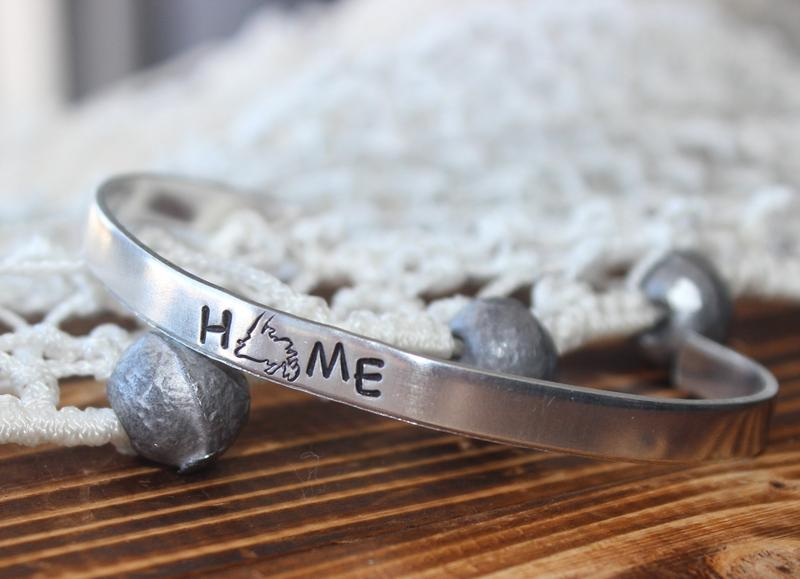 Handmade Newfoundland HOME bangle bracelet