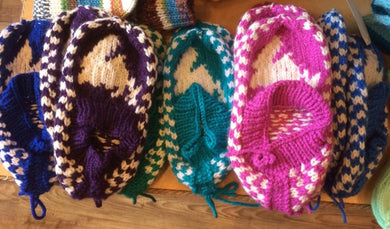 Newfoundland handmade knitted slippers