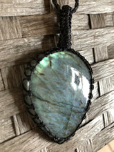 Load image into Gallery viewer, Labradorite necklace -Teardrop (Large)