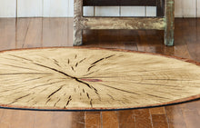Load image into Gallery viewer, Rustic wood slice floor mat
