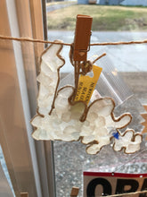 Load image into Gallery viewer, Sea Glass Newfoundland shaped suncatcher