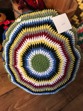 Load image into Gallery viewer, Knitted Handmade Afghan Pillow (Round)