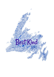 Newfoundland Best Kind Watercolor 5x7 Greeting Card
