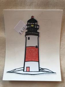 Hand drawn stickers Puffin/Pitcher Plant/Lighthouse