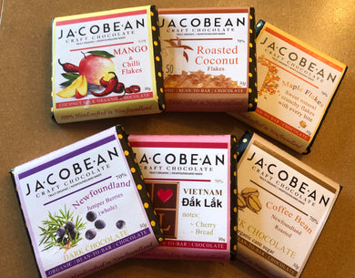JacoBean Organic Newfoundland Chocolate 30g - 6 Flavours