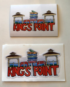 Hand drawn King's Point Waterfront Sticker or Magnet