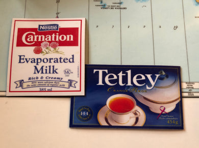 Carnation Milk & Tetley Tea Magnets