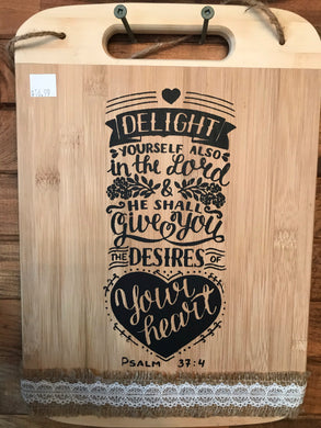 Christian Phrase Decorative Bamboo Cutting Board
