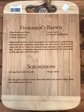 Laser Engraved Newfoundland Recipe Cutting Board - Fisherman's Brewis