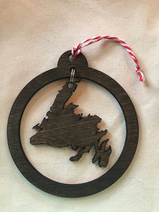 Wooden Laser Cut NL round cut out  ornament