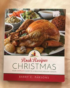 Rock Recipes Christmas Hard Cover Cookbook
