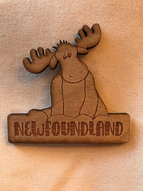 Laser Engraved Moose Magnet