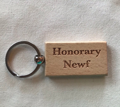 Laser Engraved Keychain - Honorary Newf