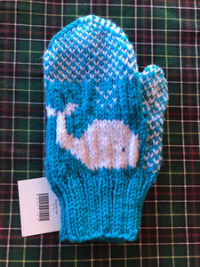 Ladies Knitted Whale Mittens