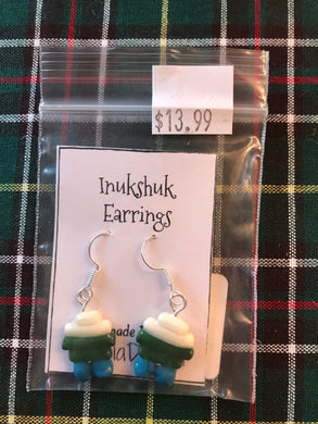 Handmade Resin Inukshuk Earrings