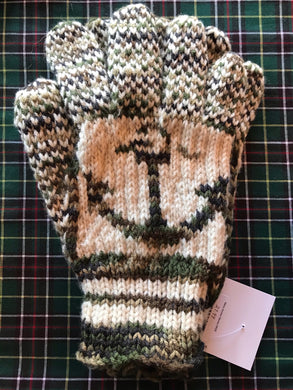Men's Knitted Anchor Gloves