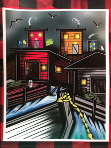 Saltbox Houses - Artwork by Jeremy Compton