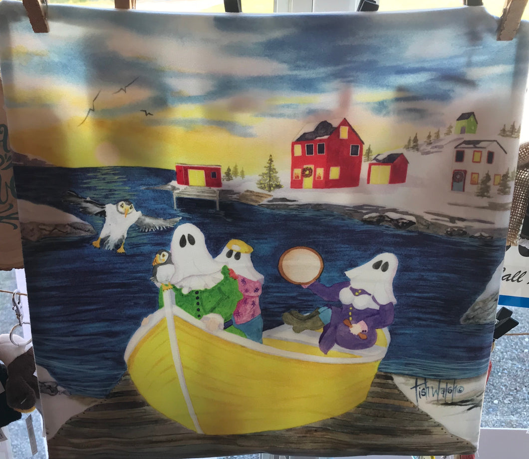 Mummers in Boat Super Soft Pillow Cover