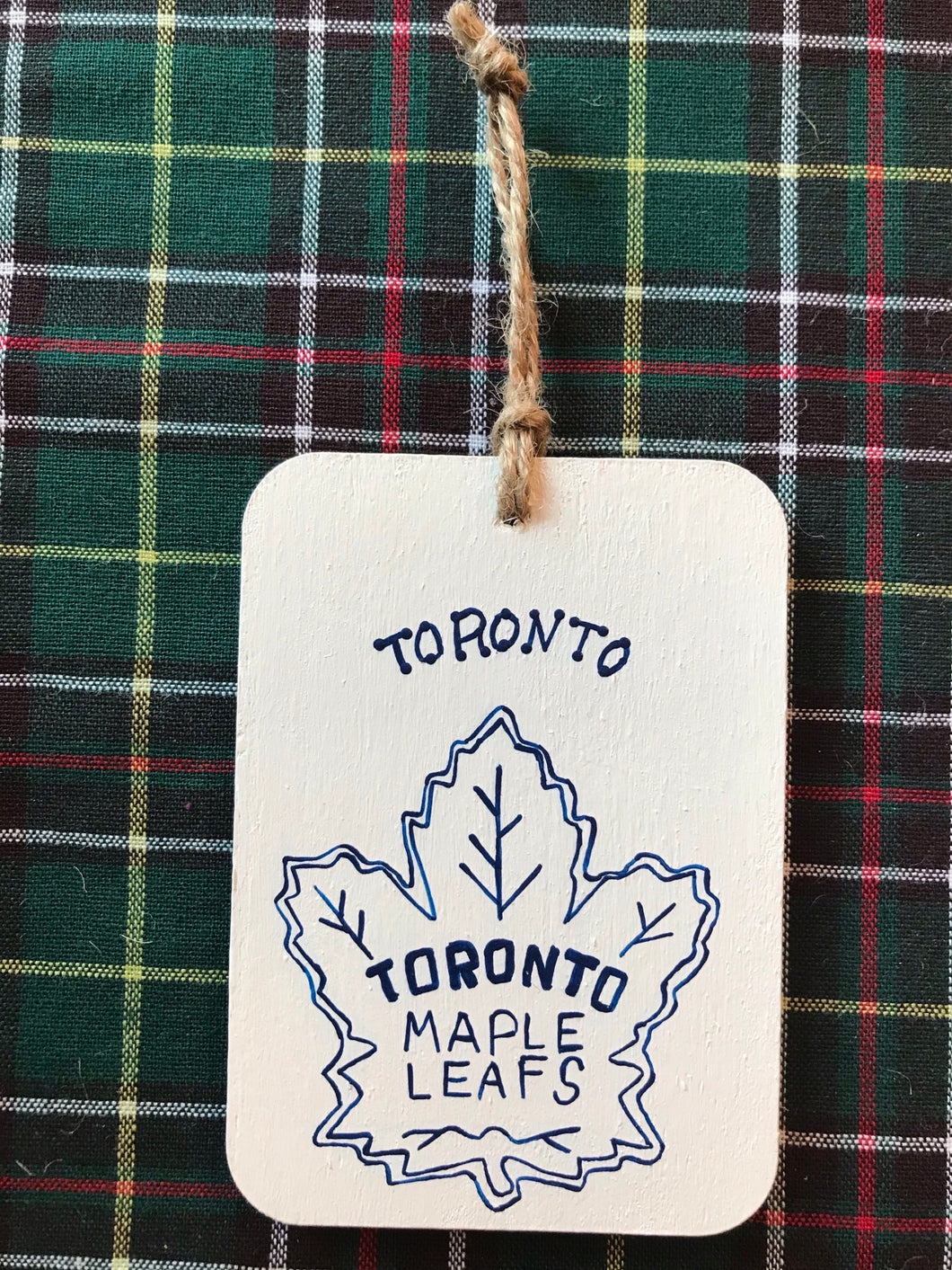 Toronto Maple Leaf Hand Painted Ornament