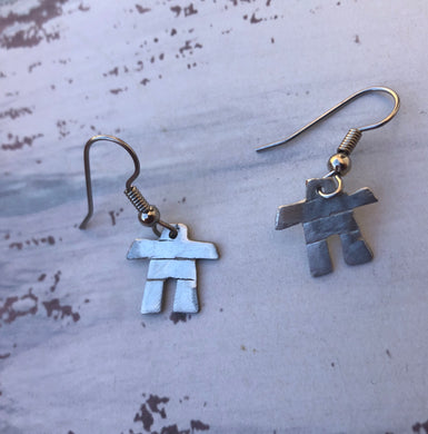 Pewter handmade INUKSHUK Earrings