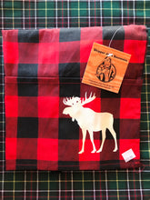 Load image into Gallery viewer, Child Moose buffalo plaid apron