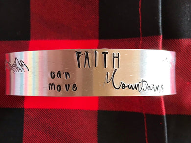 Handmade Bangle SALE - Faith can move mountains