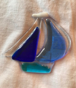 Fused Glass Sailboat sun catchers