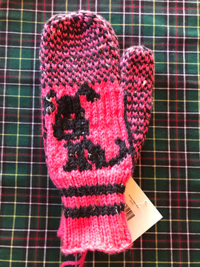 Ladies Knitted Dog Mittens