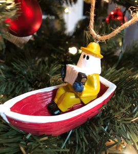 Mummers in Boats 3D Ornaments