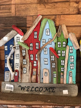 Load image into Gallery viewer, Driftwood WELCOME Rowhouse Sign