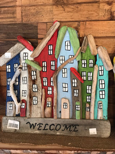 Driftwood WELCOME Rowhouse Sign