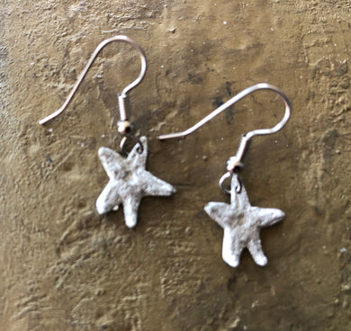 Pewter Handmade Starfish Earrings
