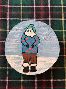 Hand Painted Mummers Wooden Magnets